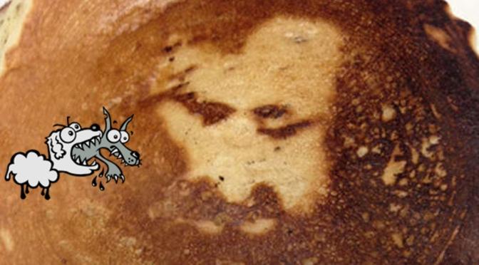 Jezus op je pannenkoek