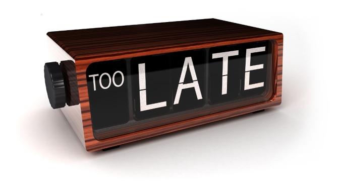 Te laat!