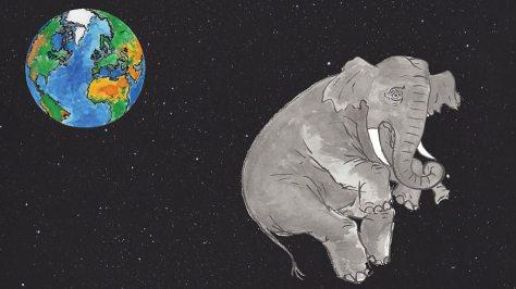 olifant in de ruimte